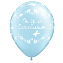 Communion Butterflies (Blue) - 11 Inch Balloons 25pcs